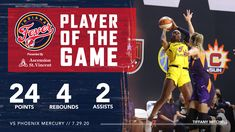 """Indiana Fever ⛹️♀️🏀 on Twitter: """"20 point second half 💪🏾  @TiffMitch25 is your Player of the Game 🔥… """" Tiffany Mitchell, Game Presents, Wnba, Rebounding, Indiana, Shit Happens, Twitter"""