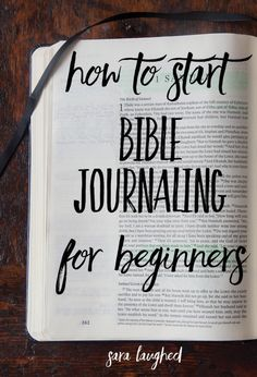 Bible Verses About Faith:How to start Bible journaling for beginners! This is a great step-by-step process for those of you who are interested in Bible journaling but don't know where to start. Pin now, read later! Bible Journaling For Beginners, Bible Study Journal, Scripture Study, Bible Art, Bible Verses, Scriptures, Devotional Journal, Scripture Journal, Prayer Journals
