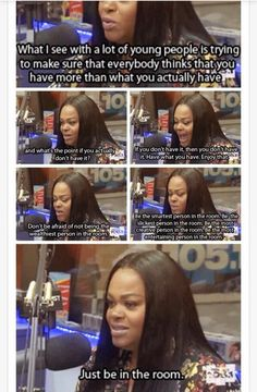 "Jill scott better preach #twitter ""Just be in the room"""
