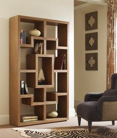 Amazing new shelving unit available At Hom in a walnut and teak finish!