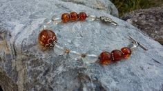 The Ultimate Power meets The Ancient Healer! Clear Quartz, Quartz Crystal, Healing Stones, Crystal Healing, My Art Studio, Amber Stone, Amber Jewelry, Healer, Sterling Silver Bracelets