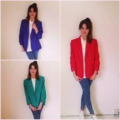 Vintage blazers £20 ❤️a MUST HAVE vintage staple for your spring wardrobe #blazer #vintage #vintagefashion #spring #80s #girl #trend #disgracelandvintage #bakerst #boro