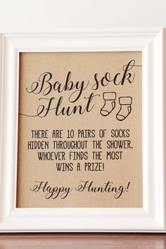Baby Sock Hunt Baby Shower Game, Baby Sock Hunt – Lindsey's Baby Shower – Baby Shower Décoration Baby Shower, Shower Bebe, Baby Shower Brunch, Baby Shower Gender Reveal, Baby Girl Shower Themes, Unique Baby Shower, Baby Shower Crafts, Best Baby Shower Gifts, Gold Baby Showers