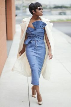 denim outfit, street style, summer outfit, black womens, inspiration, jeans