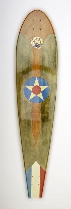 KOTA Longboards SPAD XIII Rickenbacker design (Teak/Ardennes).  MSRP $290 complete / $200 deck.