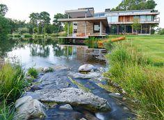hughes umbanhowar designs big timber riverside with rugged wood and glass