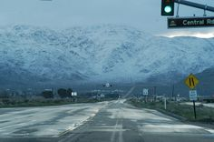 Snow in the hills of Apple Valley ,  California