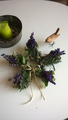 Lavender and cinnamon spice star for the autumnal equinox blót.