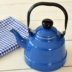 Mavi Emaye Çaydanlık