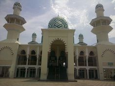 Great Mosque Islamic Centre Pangkajene Sidrap. Second Large mosque in Sidrap district south sulawesi. Beautiful architecture and cool inside.