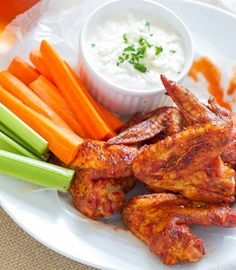 Sriracha Hot Wings Recipe featuring Fine Vines® Sriracha Artisanal Ketchup and Cherchies® Select Grilling Rub & Seasoning Blend.  Sweet and spicy!