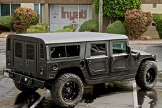 Linex'd Hummer h1 - Not sure about the wheels though.