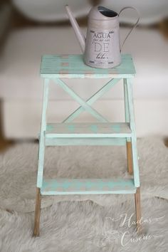 ESCALERA IKEA CON AUTENTICO CHALK PAINT - all washi tape