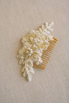Bridal Hair Comb Beaded Lace Hair Comb Lace Bridal от BelleBlooms