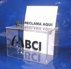 Caixa de Sugestões | Urna de Voto em acrílico.  Visite a nossa LOJA ONLINE em www.acrilico.pt