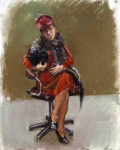 Paula Little.  Red Riding Hood SuiteRego    Paula Rego b 1935  Little Red Riding Hood suite 2003  On show at Enchanted Worlds, Harris Museum & Art Gallery, Preston  On loan from Paula Rego via Marlborough Fine Arts, London