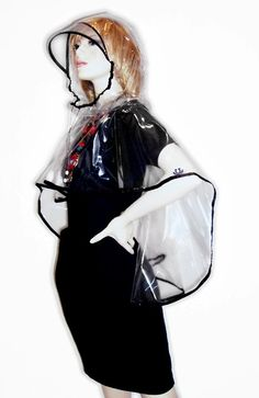 A vintage inspired PVC plastic Vizor Cape Clear with by Mannittoni, $79.00