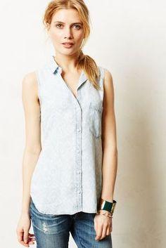 ikat chambray shirt / anthropologie