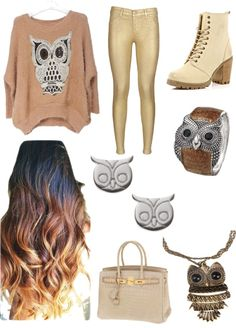 """owl fashion"" by alexandraherrera95 ❤ liked on Polyvore"