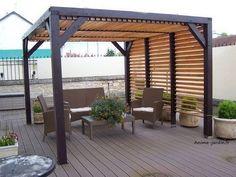 Pergola Shade DIY - - - Pergola With Roof Backyard Patio - Pergola Patio Videos With Fan Pergola Kits, Pergola With Roof, Steel Pergola, Pergola Designs, Pergola Plans, Pergola Attached To House, Outdoor Living