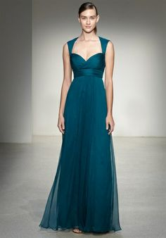 Wow! I love the shape and bodice! And the colour! Amsale Bridesmaids Fall 2014