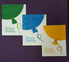 Balloon Card set of 6 (3 of 3)