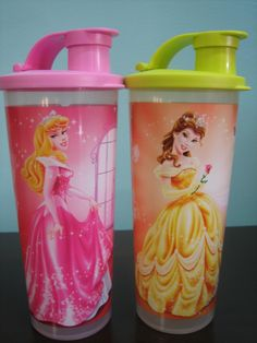 Tupperware Disney Princess Tumbler (2) 470ml Save 333%