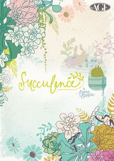Succulence by Bonnie Christine #fabric #pattern