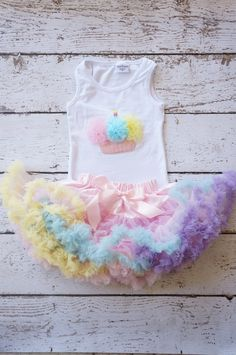 First birthday outfit Birthday outfit  Tutu by PoshPeanutKids, $50.00