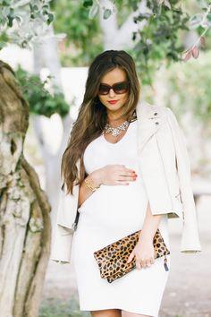 #BumpStyle // Little White Dress & Boots   BondGirlGlam.com