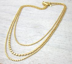 Paulina Disc Necklace in Gold layered bib jewelry by shlomitofir
