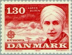 Danish author Karen Blixen drew upon her experiences in Kenya to write Out of Africa, originally published under her pen name, Isak Dinesen. Karen Blixen, Kingdom Of Denmark, Oscar Winning Films, Scandinavian Countries, Out Of Africa, Stamp Collecting, Historical Photos, Postage Stamps, Denmark