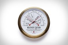 Most handheld weather stations are digital these days, but there's something beautiful about this analog Weather Station from Best Made. Built in Germany and housed in solid brass, it contains a thermometer and hygrometer that team up to let you...