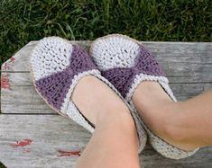 Crochet patrones de zapatillas  zapatos tamaños de por Mamachee