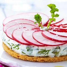 Recette : Tarte fine aux radis, sauce au fromage frais - Recette au fromage