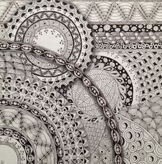 What I did during the blizzard of 2013. Zentangle