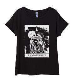 New Womens Boho Vintage Skeleton Lovers TAROT Card Shirt Tee Tumblr Top Bohemian Cotton Fashion Short Sleeve Tshirt S M L XL
