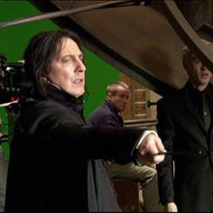 Alan Rickman as Professor Severus Snape - I think this is from one of the Deathly Hallows movies, but I don't know which.