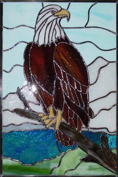 Stained Glass eagles | Glass by Kathi, Your Jacksonville Source for Stained Glass Windows ...
