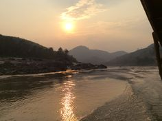 Sun going down on the Mekong River, Celestial, Sunset, Outdoor, Sunsets, Outdoors, Outdoor Living, Garden, Rivers
