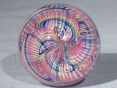 Marbles: Hand Made Art Glass James Alloway Dichroic Quadmania #123 1.95 inch