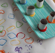 Shape Stamps Using Paper Rolls