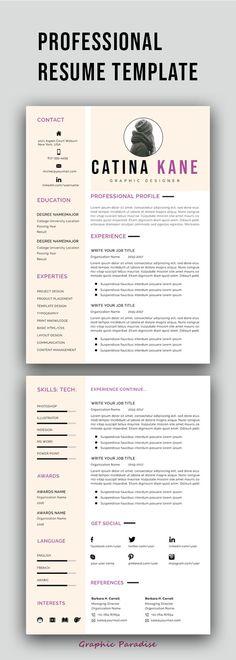 Nurse Resume / Doctor CV Pinterest Template, Business resume and - nursing student cover letter