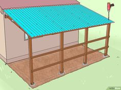 How to Add a Lean To Onto a Shed. When your shed or other storage building no longer provides enough room, you can add additional storage if you add a lean-to onto a shed. If the existing shed is structurally sound and has an exterior wall. Shed Organization, Shed Storage, Built In Storage, Backyard Storage, Kayak Storage, Lean To Roof, Lean To Carport, Lean To Shed Plans, Diy Shed Plans