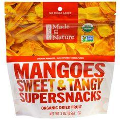 Made in Nature, Органический манго, сладкий и терпкий суперснек, 3 унции (85 г)