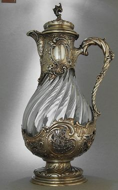 Koch & Bergfeld - Heilbronn c Owner - The Claret Ju .- Koch & Bergfeld – Heilbronn c Besitzer – The Claret Jug Collector Koch & Bergfeld – Heilbronn c Owner – The Claret Jug Collector - Antique Glass, Antique Silver, Art Nouveau, Argent Antique, Art Object, Belle Photo, Tea Set, Glass Art, Sculptures