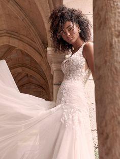 Keyhole Back Wedding Dress, Perfect Wedding Dress, Designer Wedding Dresses, Bridal Dresses, Nude Gown, Sheath Wedding Gown, Wedding Gowns, Maggie Sottero Wedding Dresses, Lace Ball Gowns