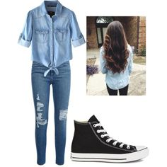 Out and about by alannaxjonnesx on Polyvore featuring polyvore, fashion, style, Chicnova Fashion, Frame Denim and Converse