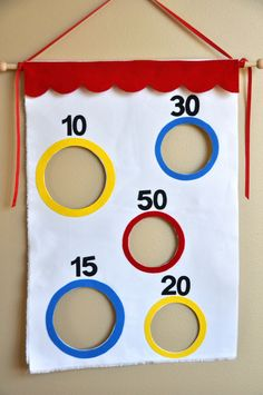 carnival party game Bean Bag Toss
