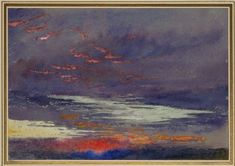 Study of Dawn: Purple Clouds by John Ruskin, March 3, 1868